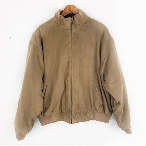 EUC-Izod Outerwear Vintage Suede Bomber Jacket XL